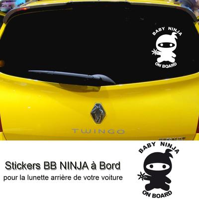 Stickers bébé Ninja à bord