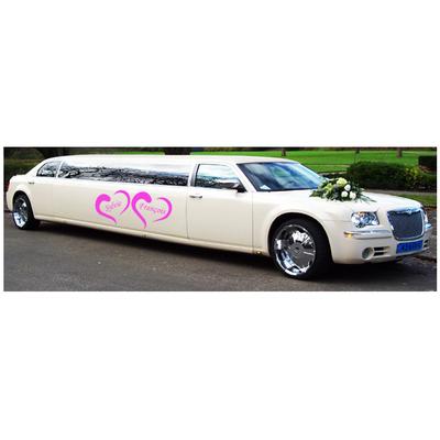 Stickers mariage Prénoms dans des Coeurs limousine