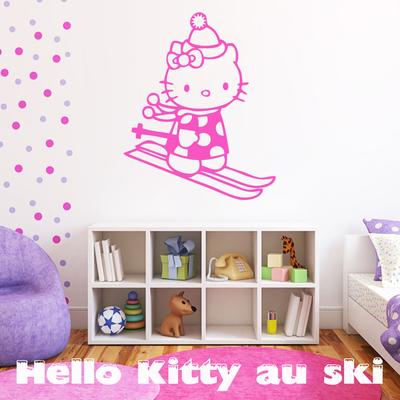 Stickers Hello Kitty au ski