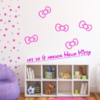 Stickers Hello Kitty Lot de 6 noeuds