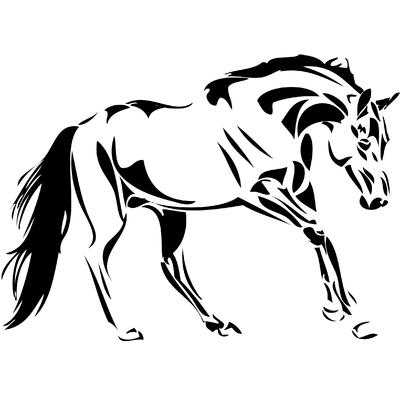 Stickers cheval de selle 02