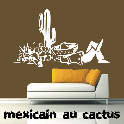 Stickers mexicain au cactus 01