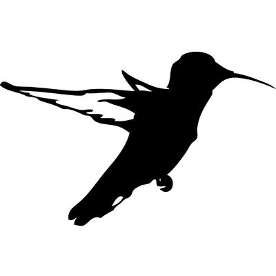 Stickers silhouette oiseau colibri