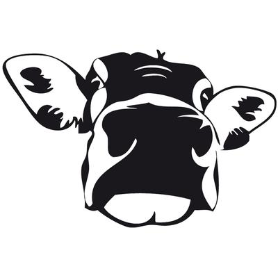 Stickers tête de vache
