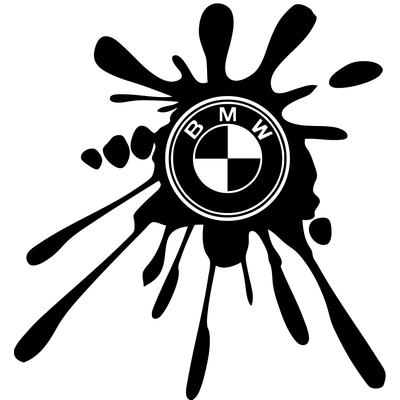 Stickers Tuning BMW tache de peinture