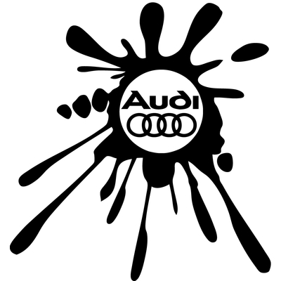Stickers Audi tuning tache 02