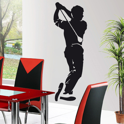 Stickers autocollant Golfe Golfeur