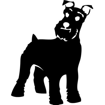 stickers autocollant chien race Schnauzer