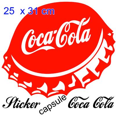 stickers capsule coca