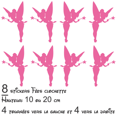 8 stickers autocollant fees fées clochette 02