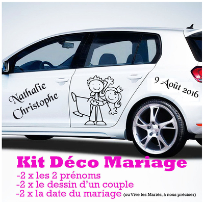 stickers autocollant KIT mariage 2016