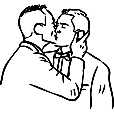 stickers mariage pacs couple hommes gay