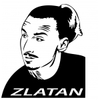 Stickers foot Zlatan Ibrahimovic