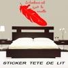 Stickers tête de lit PLUME