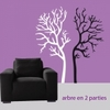 Sticker arbre en 2 parties