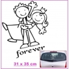 Stickers MARIAGE couple Forever 35 cm