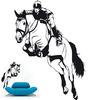 sticker cavalier et cheval