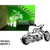 Sticker autocollant moto biker 3