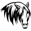 stickers tête de cheval sauvage