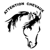 Stickers attention chevaux 01