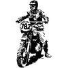 Stickers motard cross 108