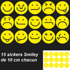 Stickers 15 smiley différents