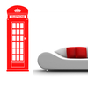 Stickers Cabine téléphone anglaise