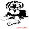sticker autocollant chien yorkshire personnalisé