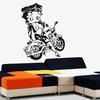 Stickers Betty Boop sexy en moto