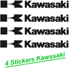 Stickers KAWASAKI lot de 4 logos