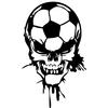 Sticker tête de mort ballon de foot
