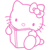 Stickers Hello Kitty et son livre