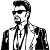 Stickers Johnny Hallyday réf 001
