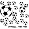 Stickers 19 ballons de foot