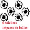 Stickers impacts de balles tuning