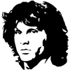Stickers JIM MORRISON THE DOORS
