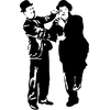 STICKERS Laurel et Hardy