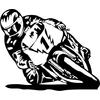 Sticker moto motard