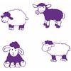 Stickers enfants les 4 moutons