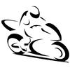 Stickers motard moto stylisé