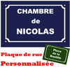 Stickers texte plaque de rue Paris