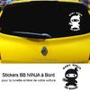 Stickers bébé à bord Ninja