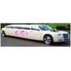 Stickers déco MARIAGE personnalisé Vos prénoms dans 2 coeurs pour voiture et limousine