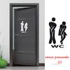 Stickers autocollant pour la porte des wc toilettes