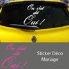 Stickers mariage On s'est dit oui