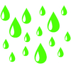 Stickers salle de bain Gouttes d'eau