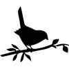 Stickers silhouette Oiseau sur une branche
