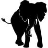 Stickers éléphant 03