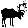 Stickers silhouette cerf 2