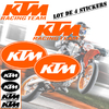 Stickers autocollant KTM Racing team 01